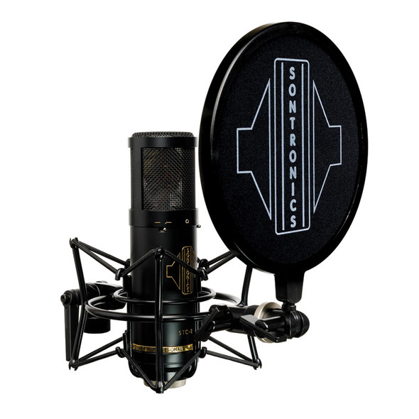 Sontronics STC-2 Pack Condenser Microphone with Accessories, Black
