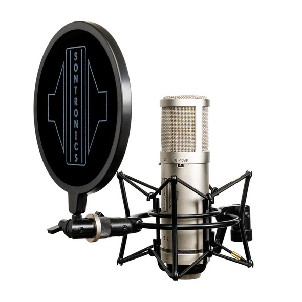 Sontronics STC-2 Pack Condenser Microphone with Accessories, Silver