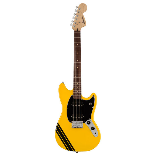 Fender Squier FSR Bullet Competition Mustang HH Electric Guitar, Graffiti Yellow