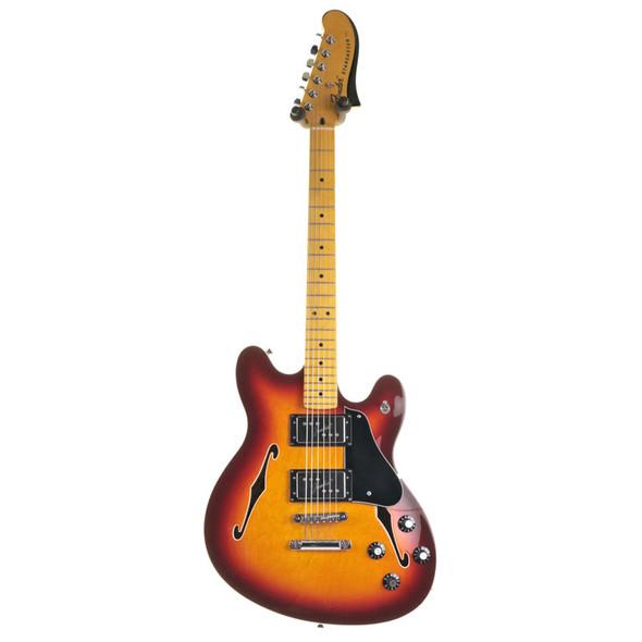 Fender Modern Player Starcaster Electric Guitar, Sunburst w Tweed Hard Case (pre-owned)