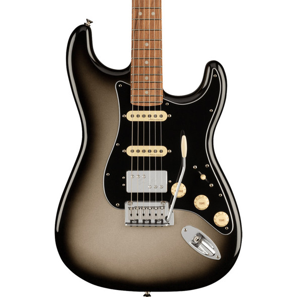Fender Player Plus Stratocaster Electric Guitar HSS, Silverburst, Pau Ferro