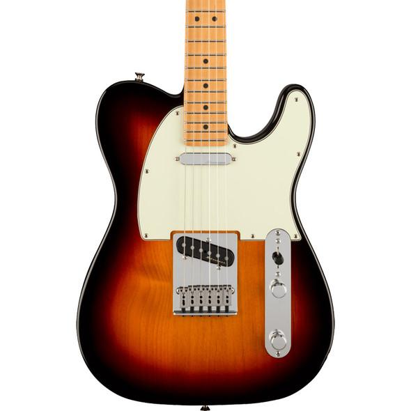 Fender Player Plus Telecaster Electric Guitar, 3-Colour Sunburst, Maple