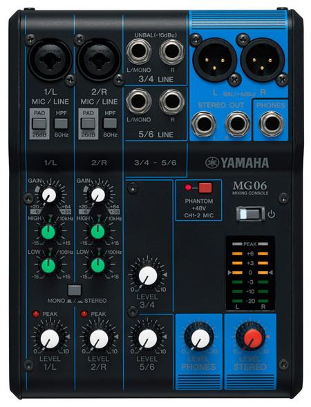 Yamaha MG06 Compact Mixing Desk  (ex-display)