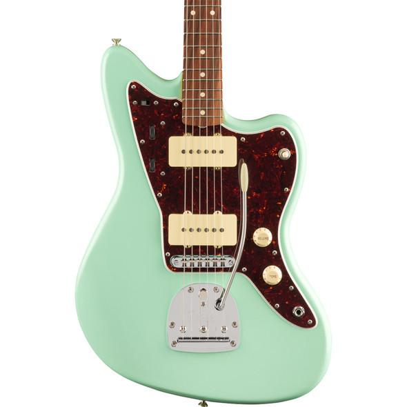 Fender Vintera 60s Jazzmaster Modified Electric Guitar, Surf Green, Pau Ferro