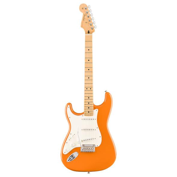 Fender Player Stratocaster Electric Guitar, Capri Orange, Maple, Left Handed