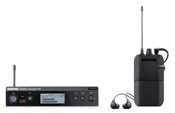 Shure PSM 300 Stereo IEM System (Includes SE112 Earphones)