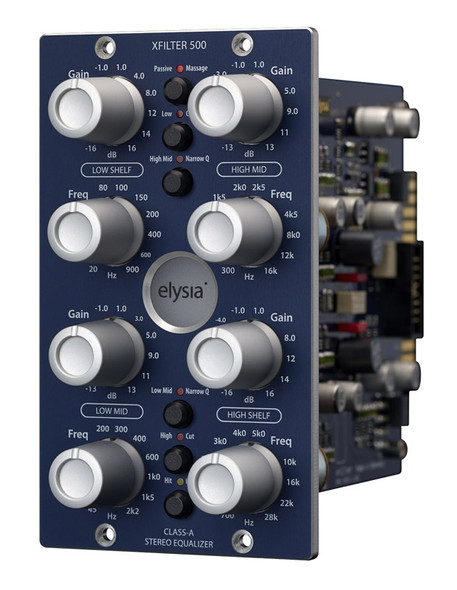 Elysia Xfilter-500 Stereo EQ in 500 Series Format