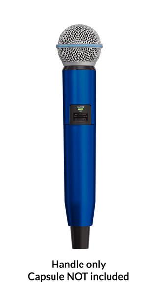 Shure GLX-D SM58/BETA58A Handle Components, Blue