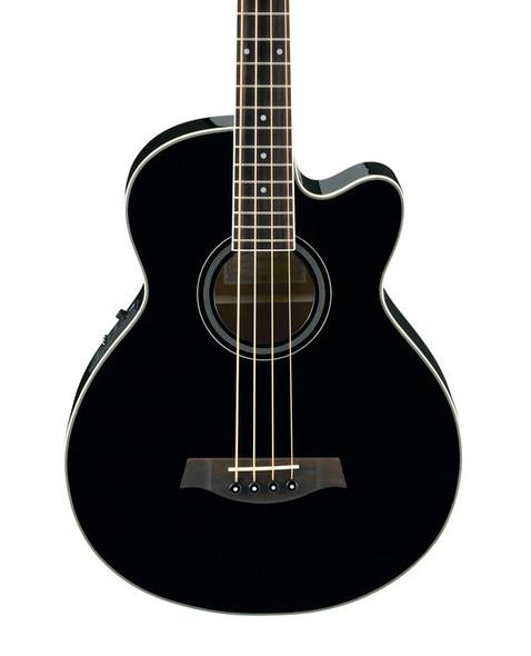 Ibanez AEB8E-BK Electro Acoustic Bass, Black