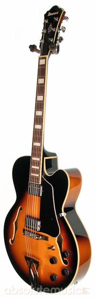 Ibanez Artcore AF75-BS Hollow Body Electric Guitar, Brown Sunburst