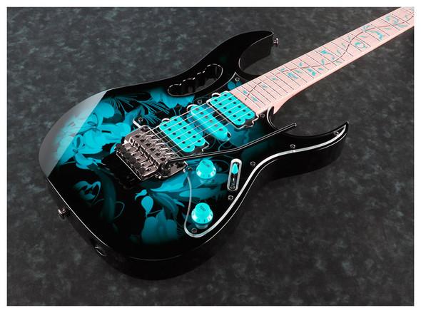 Ibanez JEM77P-BFP Steve Vai Signature Premium Electric Guitar, Blue Floral