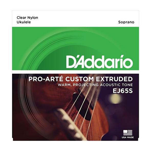 D'Addario EJ65S Pro-Arte Custom Extruded Nylon Ukulele Strings, Soprano