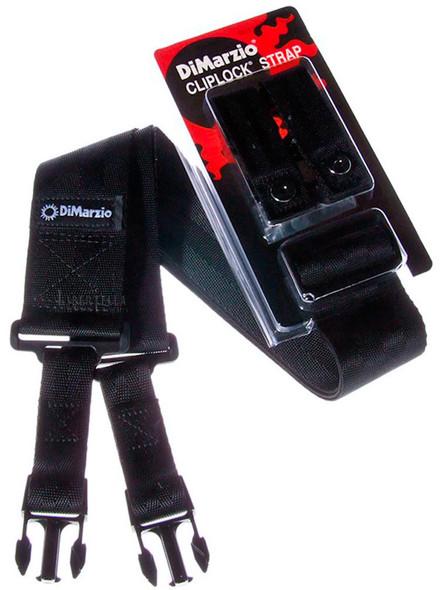 DiMarzio DD2800BK Extra Wide Cliplock Guitar Strap, Black
