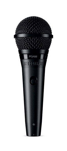 Shure PGA58-XLR Dynamic Vocal Microphone with XLR to XLR Cable