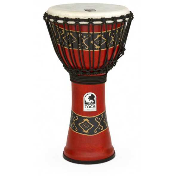 Toca SFDJ-10RP Djembe Freestyle 10 Inch, Bali Red