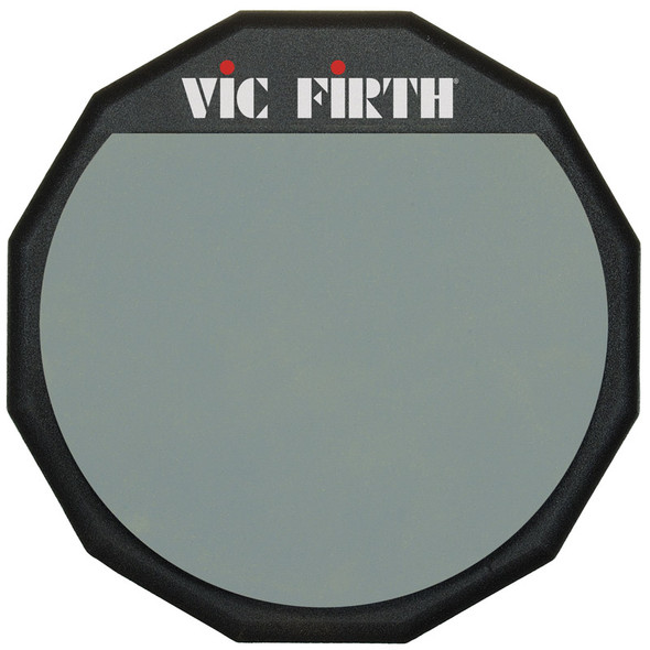 Vic Firth VF-PAD12 Single Sided Practice Pad, 12-inch