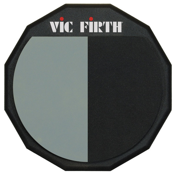 Vic Firth VF-PAD12H Split Practice Pad, 12-inch