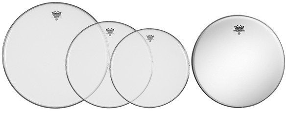 Remo 12/13/16 Emperor Clear Drum Head Pack with Free 14 Coated Ambassador