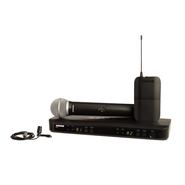 Shure BLX1288/CVL PG Wireless Combo, PG58 Handheld and CVL Lavalier