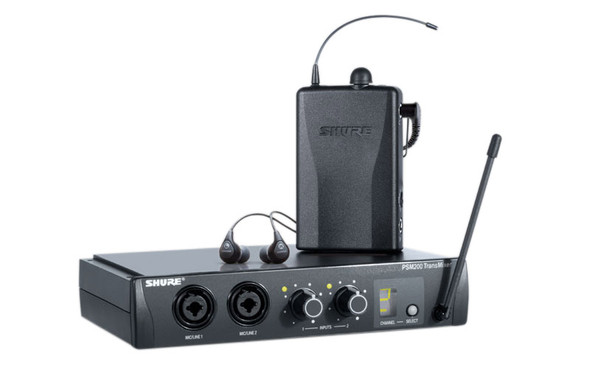 Shure PSM200 Wireless Personal Monitoring System, w. SE112 earphones, CH38