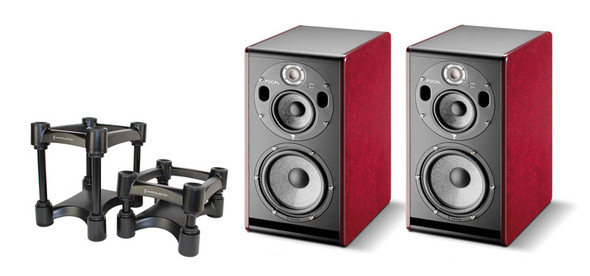 Focal Trio6 BE 3-Way Active Studio Monitor Bundle with Isoacoustics Stands
