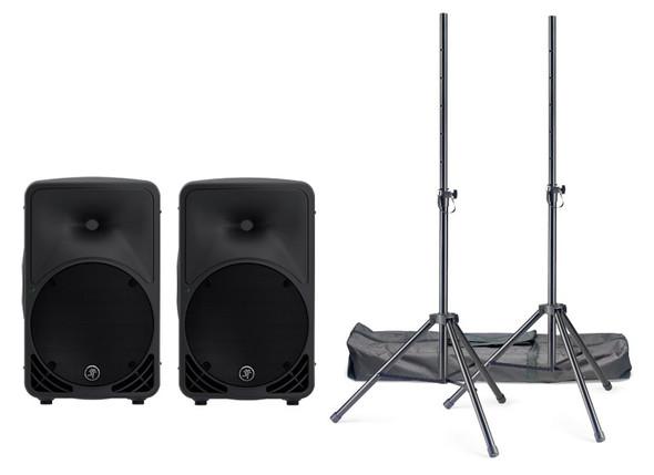 Mackie SRM350v3 10 inch Active PA Speaker Bundle
