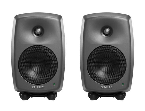 Genelec 8330A Smart Active Studio Monitor, Dark Grey (Pair)