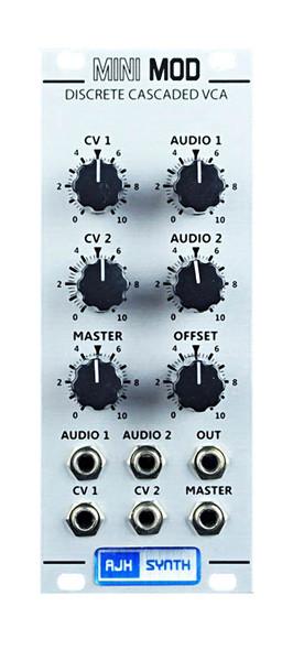 AJH Synth MiniMod VCA Eurorack Module, Silver