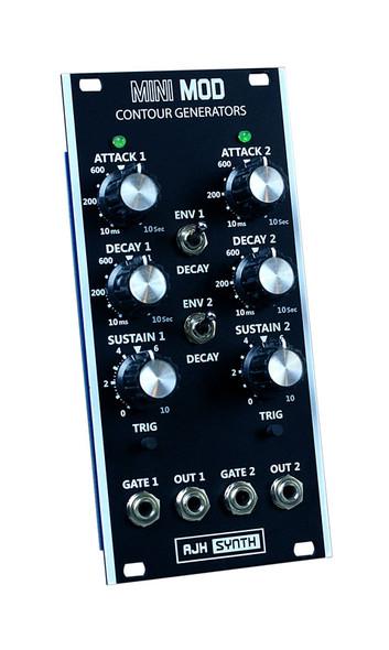 AJH Synth MiniMod Dual Contour Eurorack ASR Module, Dark Edition