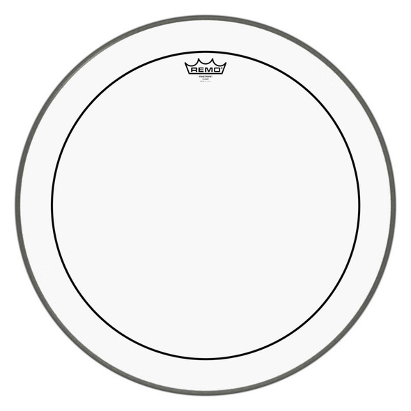 Remo PS-1322-00 Pinstripe Clear 22-inch Bass Drum Head