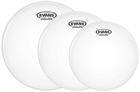 Evans ETP-G1CTD-F Tom Pack, G1 Coated Drum Heads, Fusion