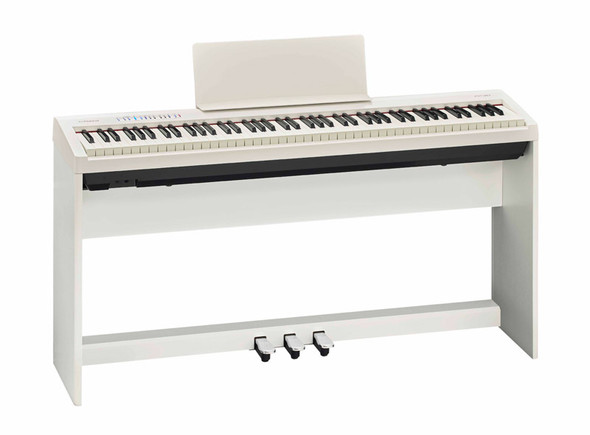 Roland FP-30 Digital Piano with Stand and Pedalboard, White