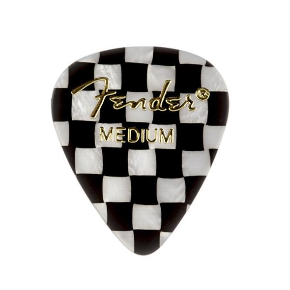Fender 351 Shape Premium Picks, 12 Pack, Checker, Medium