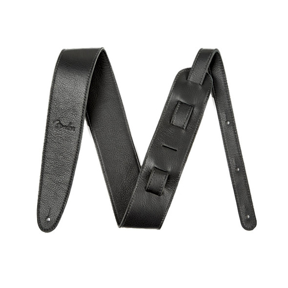 Fender Artisan Crafted 2.5 inch Leather Guitar Strap, Black