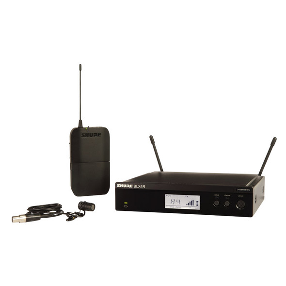 Shure BLX14RUK/W85 Wireless Rack-mountable System, WL185 Lavalier Mic