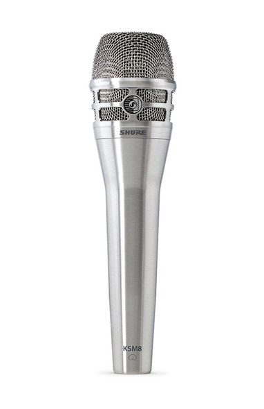 Shure KSM8 Dualdyne Handheld Dynamic Vocal Microphone, Nickel