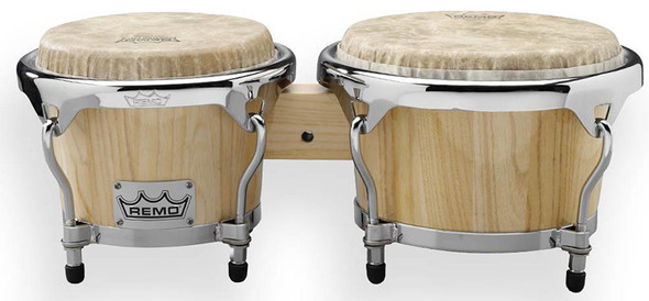 Remo Crown Percussion Bongos, Natural