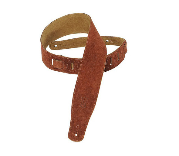 Levys MS26-RST 2.5 inch Suede Guitar Strap, Rust