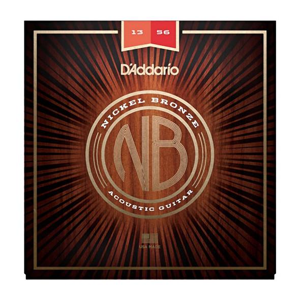 D Addario NB1356 Nickel Bronze Acoustic Guitar Strings, Medium, 13-56
