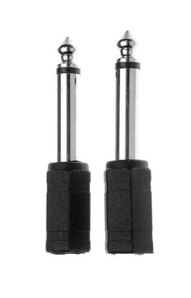 Stagg AC-PMJFSH Mono Minijack socket to Mono 1/4 inch Jack Adaptors (Pair)
