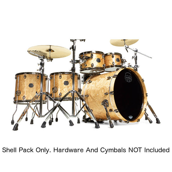 Mapex Saturn V Sound Wave Twin Exotic Shell Pack in Natural Maple Burl