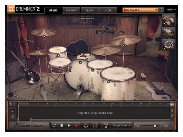 Toontrack EZX Seventies Rock Expansion Pack for EZ Drummer 2 (Serial Download)