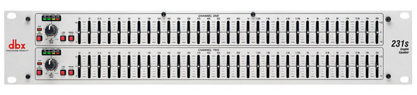 DBX 231S Dual 31 band graphic equalizer (Silver)