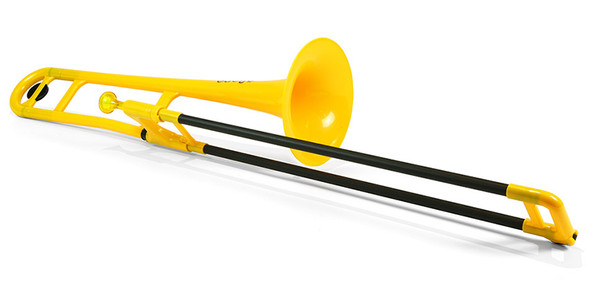 pBone Plastic Trombone, includes Bag & Mouthpiece, YellowpBone Plastic Trombone, includes Bag & Mouthpiece, Yellow