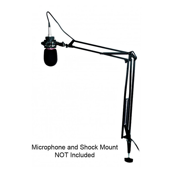 Proel DST260 Sprung Microphone Arm with Desk Clamp and Wall Mount