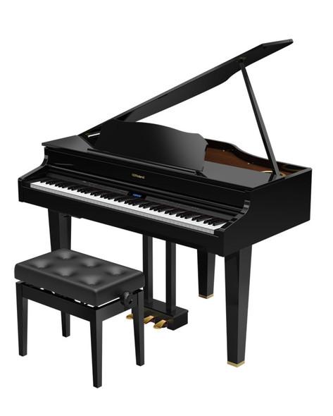 Roland GP607-PE Digital Mini Grand Piano, Polished Ebony