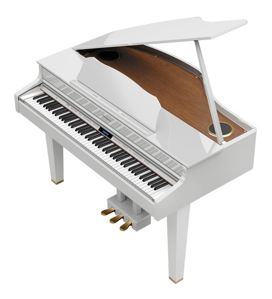 Roland GP607-PW Digital Mini Grand Piano, Polished White