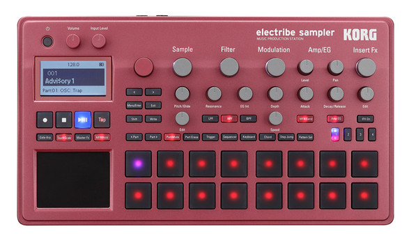 Korg Electribe 2S Sampler Music Production Station, Red