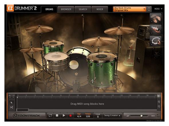 Toontrack EZX Big Rock Drums (Serial Download)