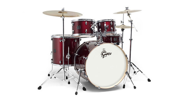 Gretsch Energy Drum Kit, Complete with Hardware and Cymbals, Wine Red